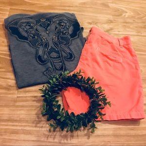 (Columbia) Orange Shorts